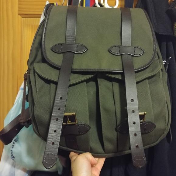 Filson Bags   Rugged Twill Green Rucksack   Poshmark a74b6c2dea